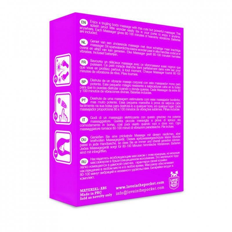 Masażer - Love in the Pocket Love Massager Mini Vibrating Body Stimulator