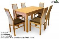 Stół Aston 1 + 6 krzeseł Sempre 1