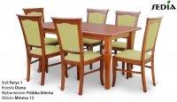 Stół Parys 1 + 6 krzeseł Diana