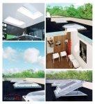 Fakro Elektryczne Okno do dachu płaskiego DEC-C P2 kopuła transparentna, Ug=1,1 W/m²K otwierane elektrycznie w bezprzewodowym systemie Z-Wave