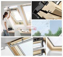 Okno Dachowe Velux GGL 3070Q Uw = 1,3 Drewniane obrotowe Okno antywłamaniowe klasy 2, z szybą antywłamaniową, laminowaną klasy P4A