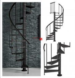 Spiralne schody Dolle Calgary - Ø 140 - 280,80 cm 11 stopni antracytowe