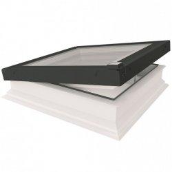 Fakro Okno do płaskiego dachu DEG P2 U=0,92 W/m²K, otwierane elektrycznie w systemie Z-Wave, z płaskim segmentem szklanym