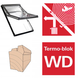 Okno dachowe Roto obrotowe Designo  R66E H200 Okno z pakietem 3-szybowym Acoustic, szkło laminowane, drewniane Uw = 1,0, Termo-blok WD