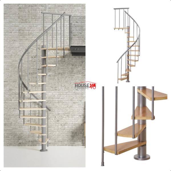 Spiralne schody Dolle Calgary - Ø 140 - 280,80 cm 11 stopni srebrne