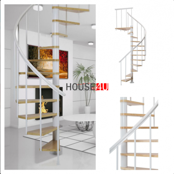 Spiralne schody Dolle Calgary - Ø 120 - 280,80 cm 11 stopni białe