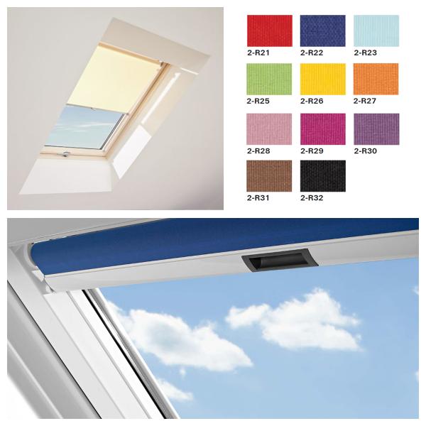 Roto Roleta wewnętrzna dzienna standard ZRS M manualna okna Designo R4/R7 grupa kolorów 2 (PG2)