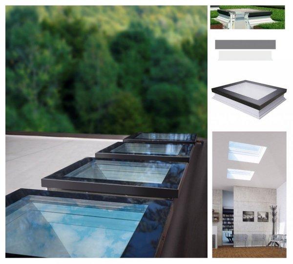 Fakro Okno do dachu płaskiego DXF DU6 z ultra-energoszczedną szybą DU6 Uw=0,70 W/m2K