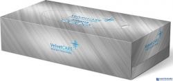 Chusteczki uniwersalne BOX (100sztuk) 2 warstwy celuloza VELVET 3100013