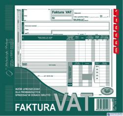 122-2N/E Faktura VAT brut.2/3A4 (uproszcz.)MICHALCZYK I PROKOP