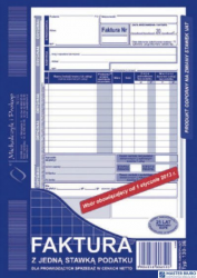 130-3U/E Faktura VAT A5z jedn.st pod.(pion)MICHALCZYK I PROKOP