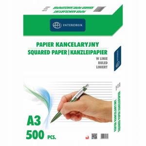 Papier kancelar.A3 linia (500) INTERDRUK