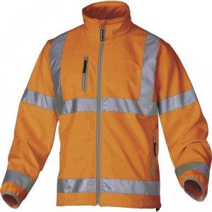 MOONLIGHT Bluza softshell z poliestru i elastanu, 3 warstwy laminowane, pomarańczowa fluo