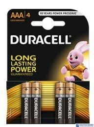 Bateria alkaliczna DURACELL BASIC LR03/AAA K4 (4szt) 4520104