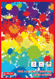 Blok rysunkowy A4 20kartek 80gram kolorowy 0009561895 HERLITZ