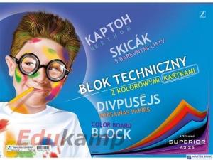 Blok tech.A-3 z kol.kartkami KRESKA A3/10k