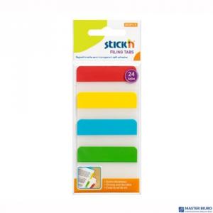 Przekładki indeksujące przeźroczyste 38x51mm 4 kolory STICKN 21608