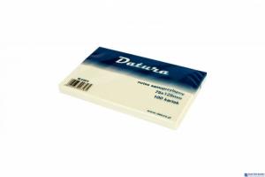 Bloczek samoprzylepny DATURA 75x125mm żółty 100 kartek (NS125/75/D)
