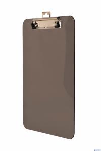 Deska A4 z klipem transparentna dymna     BD641-V TETIS