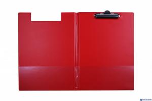 Teczka z klipsem A4 czerwona KL-04 BIURFOL