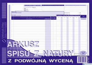 342-1 Arkusz spisu z natury z wyceną MICHALCZYK I PROKOP