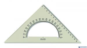 Ekierka z kątom.16cm.745640 KOOH-I-NOR