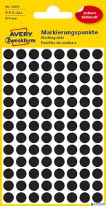 Et.ZF Q8mm czarne kółka 3009 416szt