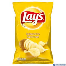 Chipsy LAYS SOLONE naturalne 140g