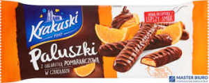 Ciastka BAHLSEN KRAKUSKI paluszki z galaretką pomarańcza w czek. 144g