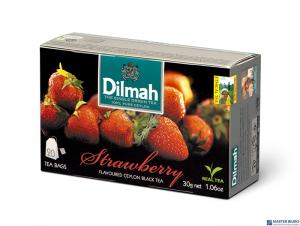 Herbata DILMAH AROMAT TRUSKAWKA 20t*1,5g czarna