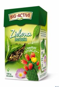Herbata BIG-ACTIVE kawałki OPUNCJI 100g liściasta zielona