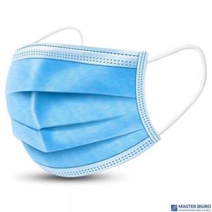 Maski chirurgiczne medyczne TYP IIR jednorazowe ochronne BFE e 98% 3-wartwy 50szt 9,5cm x 7,5cm znak CE EN 14683