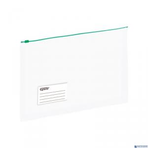 Koperta A4 PP na suwak poszerzana zielona 120-1790 GRAND EC011B