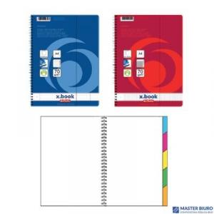 Brulion na spirali x.book pro A4 80k kratka czarny  11155702