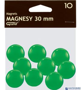 Magnesy 30mm GRAND zielone   (10)^ 130-1697