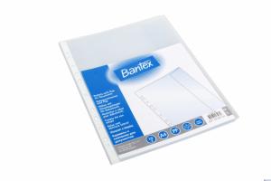 Koszulki groszkowe z klapką BANTEX A4 110 mic. (10szt) 100550132