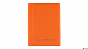 Okładka na dokumenty orange,1 BIURFOL KOD-04-04 duża