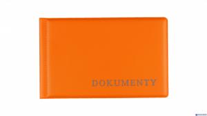 Okładka na dokumet.małe orange BIURFOL KOD-02-04
