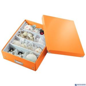 (WYCOFANE)Pudełko z przegródkami LEITZ C&S duże pomarańczowe 60580044 (X)