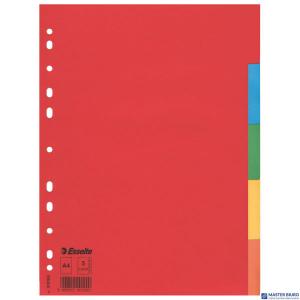 Przekładki karton A4 5 kart ESSELTE 100199 kolorowe bez karty opisowej