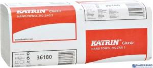 Ręcznik składany ZZ KATRIN Clasic makulatura biały 2warstwy 3000listków 431468/65944 karton