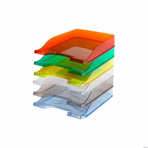 Półka na dokumenty BANTEX niebieska przezroczysta 100553683