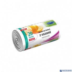 Worki na śmieci  20L 30szt/op z uszami wytrzymałe białe (HD-LD) STELLA