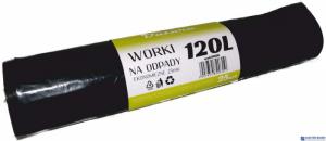 Worki na śmieci 120L 25szt/op DATURA ekonomiczny 25mic LDPE