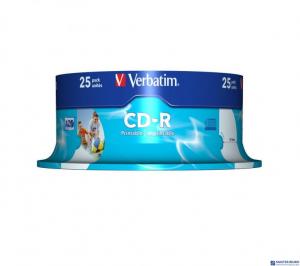 Płyta CD-R VERBATIM CAKE(25) do nadruku Wide DataLife+AZO    43439