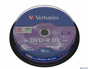 Płyta DVD+R VERBATIM DL CAKE(10)DoubleLayer 8.5GB x8 MattSil 43666