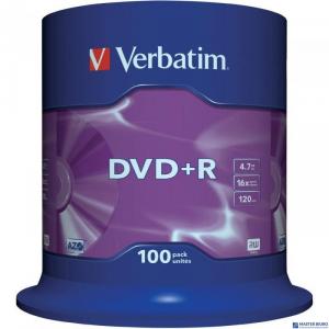 Płyta DVD+R VERBATIM CAKE(100) Matt Silver 4.7GB x16        43551