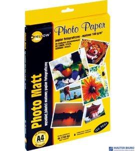 Papier fotograficzny matowy 4M140, 140 g/m, A4 50 arkuszy YELLOW ONE 150-1178