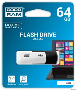 Pamięć USB GOODRAM 64GB UCO2 BLACK&WHITE USB 2.0 UCO2-0640KWR11
