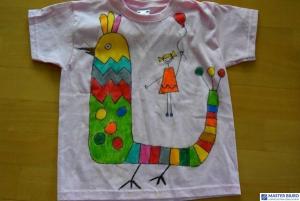 Zestaw pasteli do tkanin z koszulką PENTEL PTS15+NM10+KOSZULKA